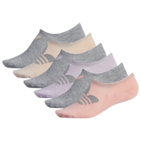 adidas Originals 6 Pack Original No Show Socks - Women's - Pink / Grey