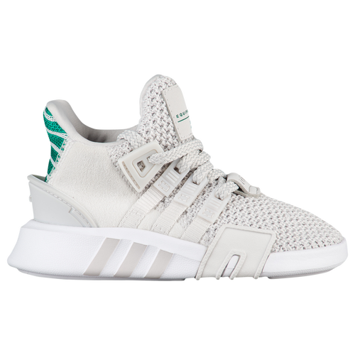adidas Originals EQT Basketball ADV - Boys' Toddler - Casual - Shoes - Grey One/Grey One/Sub Green