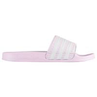 adidas Adilette Slide - Girls' Grade School - Pink / White