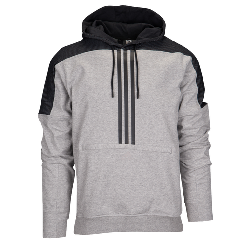 adidas Athletics Sport ID Fleece Anorak - Men's Casual - Medium Grey Heather CV3205