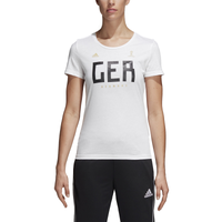 adidas Country Pack T-Shirt - Women's - Germany - White / Black