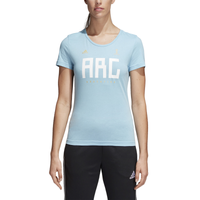 adidas Country Pack T-Shirt - Women's - Argentina - Light Blue / White