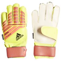 adidas Predator Fingersave Junior GK Gloves - Grade School - Yellow / Red