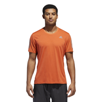 adidas Response Short Sleeve T-Shirt - Men's - Orange / Grey