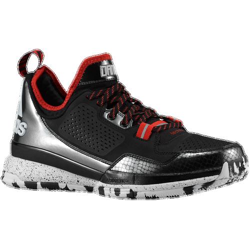 best adidas D Lillard 1.0 Mens Basketball Shoes Damian Lillard Black White  Scarlet e323a174edd8