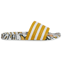 adidas Adilette - Women's - Gold / White