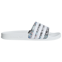 adidas Adilette Slide - Girls' Grade School - White