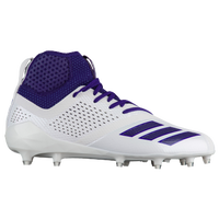 adidas adiZero 5-Star 7.0 Mid - Men's - White / Purple