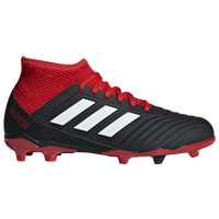 adidas Predator 18.3 FG - Boys' Grade School - Black / Red