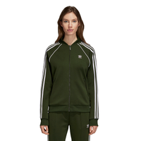 adidas Originals Adicolor Superstar Track Top - Women's - Olive Green / Olive Green