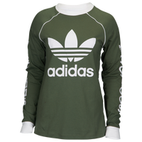 adidas Originals Winter Ease Long Sleeve Top - Women's - Olive Green