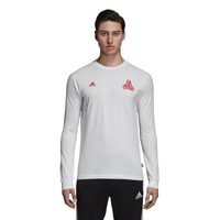 adidas Tango Graphic Long Sleeve - Men's - White / Red