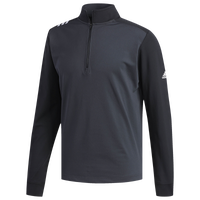 adidas 3-Stripe Golf 1/4 Zip - Men's - Grey / Black