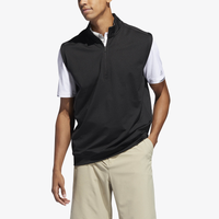 adidas Classic Club 1/4 Zip Golf Vest - Men's - Black