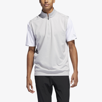 adidas Classic Club 1/4 Zip Golf Vest - Men's - Grey