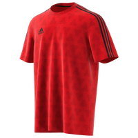 adidas Tango Logo Jersey T-Shirt - Men's - Red