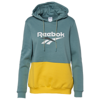 Reebok Classic Vector Pullover Hoodie - Women's - Green / Yellow