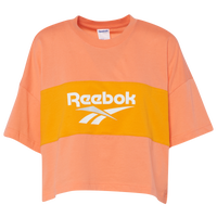 Reebok Classic Vector Cropped T-Shirt - Women's - Orange / Yellow