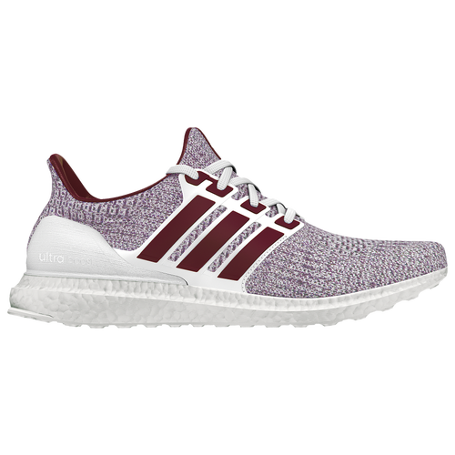 Adidas Ultra Boost Men S Running Shoes White Maroon