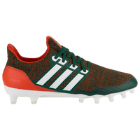 adidas Ultraboost Cleat - Men's - Miami (Fla.) Hurricanes - Dark Green / Orange