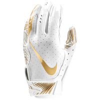 Nike Vapor Jet 5.0 Football Gloves - Men's - White / Gold