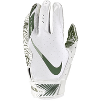 Nike Vapor Jet 5.0 Football Gloves - Men's - White / Dark Green