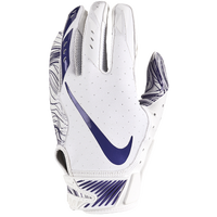 Nike Vapor Jet 5.0 Football Gloves - Men's - White / Purple