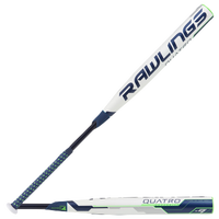 Rawlings Quatro Fastpitch Bat - Women's - White / Navy