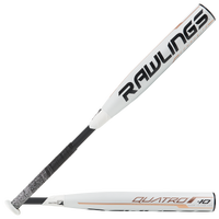 Rawlings Quatro Fastpitch Bat - Women's - White