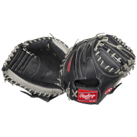 Rawlings Gamer Series Catcher's Mitt - Black / Silver