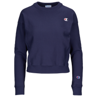 Champion Logo Crew - Women's - Navy