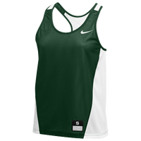 Nike Team Reversible Mesh Tank Pinnie - Women's - Dark Green / White