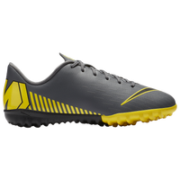 Nike Mercurial VaporX 12 Academy TF - Boys' Grade School - Grey / Yellow