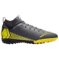 Nike Mercurial SuperflyX 6 Academy TF - Boys' Grade School - Grey / Yellow