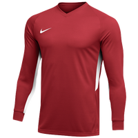 Nike Team Dry Tiempo Premier L/S Jersey - Men's - Red / White