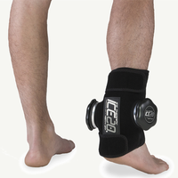 Ice20 Double Ankle Ice Compression Wrap - Black / Black