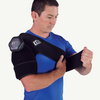 Ice20 Single Shoulder Ice Compression Wrap - Black / Black