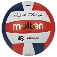 Molten Team Super Touch NFHS  Leather Volleyball - Red / White