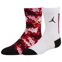 Jordan Retro 6 Crew 2 Pack Socks - Boys' Grade School - Red / White