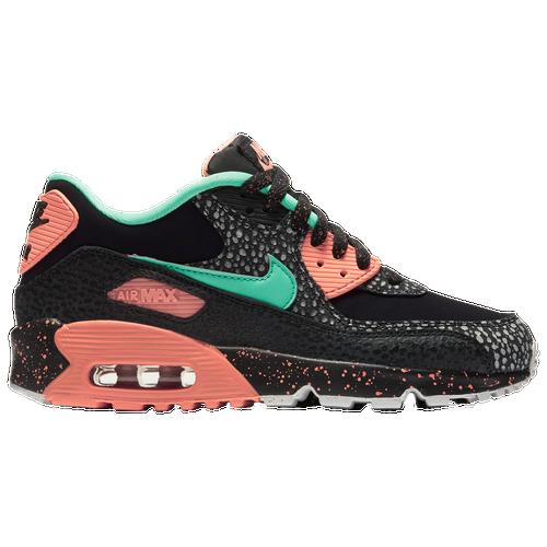 Nike Air Max 90 - Boys' Grade School - Casual - Shoes - Black/Green  Glow/Crimson Pulse/Vast Grey