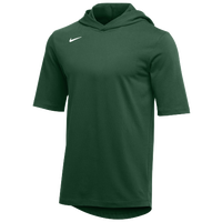 Nike Team Hooded Player T-Shirt - Men's - Dark Green / White