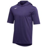 Nike Team Hooded Player T-Shirt - Men's - Purple / White