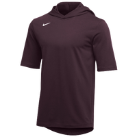 Nike Team Hooded Player T-Shirt - Men's - Maroon / White