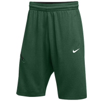 Nike Team Hangtime Shorts - Men's - Dark Green / Black
