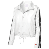 Champion Taped Cropped Coaches Jacket - Women's - White