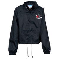 Champion Sublimated Big C Cropped Coaches Jacket - Women's - Black