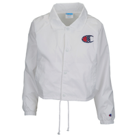Champion Sublimated Big C Cropped Coaches Jacket - Women's - White