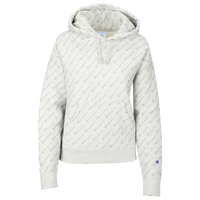 Champion All Over Print Script Hoodie - Women's - White