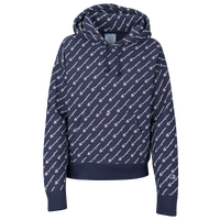 Champion All Over Print Script Hoodie - Women's - Navy