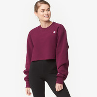 Champion Cropped Cut-Off Crew - Women's - Purple